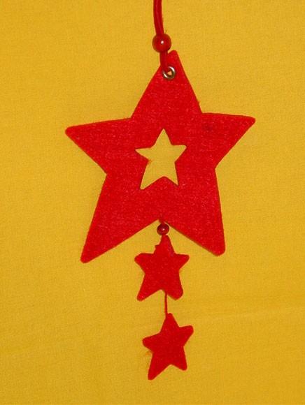 Christbaumkugeln Rot 15 Cm.Stern Rot 15 Cm