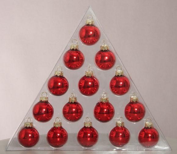 Christbaumkugeln Rot 15 Cm.Minikugelset Rot 15 Stck 3 Cm
