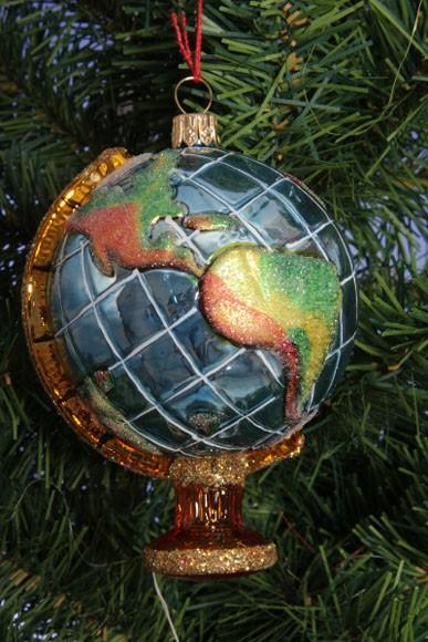 Weihnachtsdeko Globus.Globus Christbaumkugel