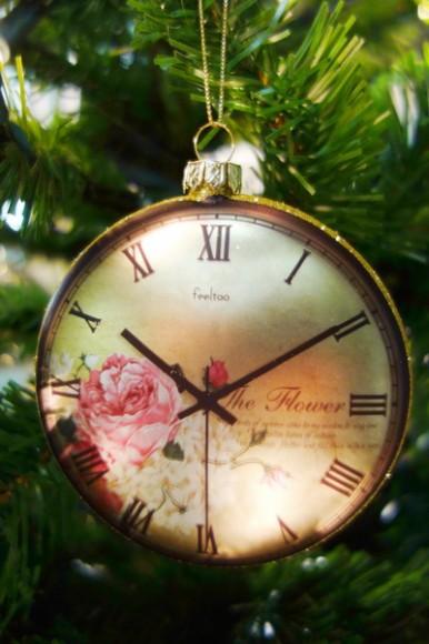 Uhr Christbaumschmuck Judihuii