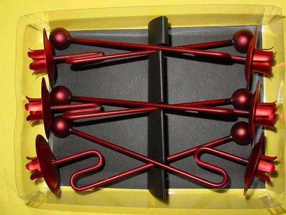 rot geschwungen 6 st ck judihuii. Black Bedroom Furniture Sets. Home Design Ideas