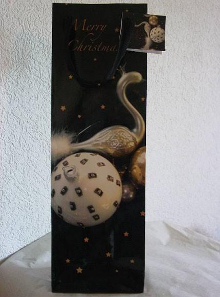 Flaschentasche 12 x 35 x 8 cm mit Hänger
