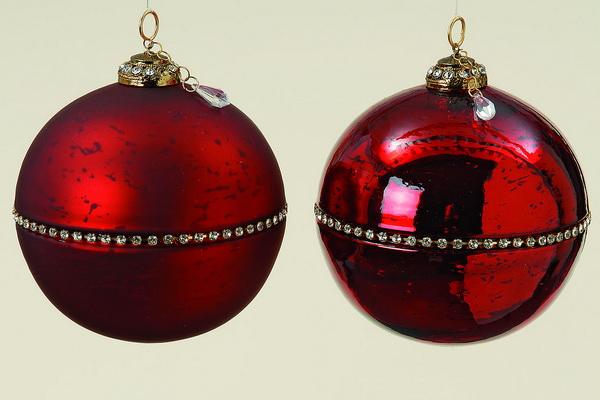 Christbaumkugeln Rot 15 Cm.Christmas Diamonds Rot Christbaumkugeln Gross